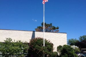 AbingtonLibraryFlagPole After