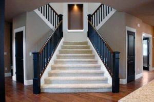 Interior Staircase trim painting